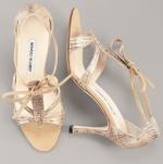 Manolo Blahnik Snakeskin Sandal – Source: BergdorfGoodman.com