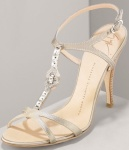 Giuseppe Zanotti Jeweled T-Strap Sandal – Source: BergdorfGoodman
