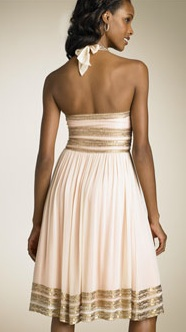 Sequin Grecian Dress Back - Source Nordstrom