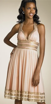 Sequin Grecian Dress