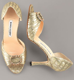 Manolo Blahnik Open-Broach d'Orsay Pump - NeimanMarcus.com
