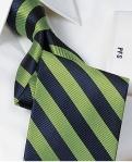 Navy Blue/Green Silk Tie. Source: PaulFrederick.com