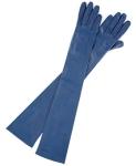 Carolina Amato Gloves Blue – Source:Eluxury.com