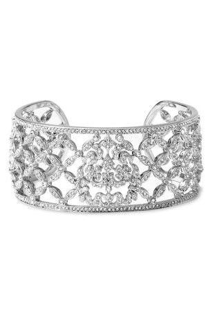 Nadri Woven Pave Wide Cuff Bracelet