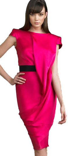 Alexander McQueen Draped Silk Dress NM - Source - Neiman Marcus