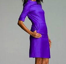 JCrew Wool Sheath in RoyalViolet (Side)