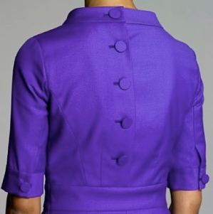 JCrew Wool Sheath in RoyalViolet Back