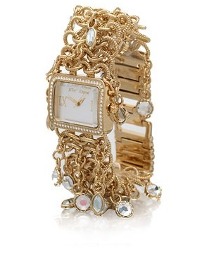 Betsey Johnson Multi Charm Bracelet Watch (Another View)