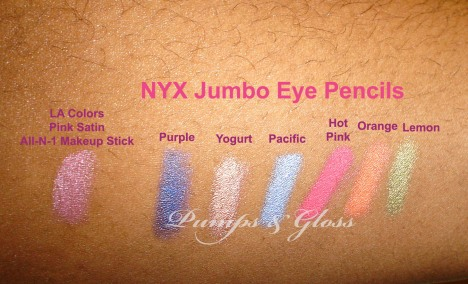 LA Colors All-in-1 Makeup Stick and NYX Jumbo Eye Pencils
