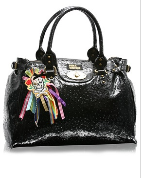 Paul's Boutique Patent Ostrich Twister Bag