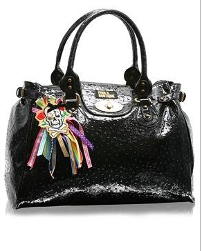 Paul's Boutique Patent Ostrich Twister Bag